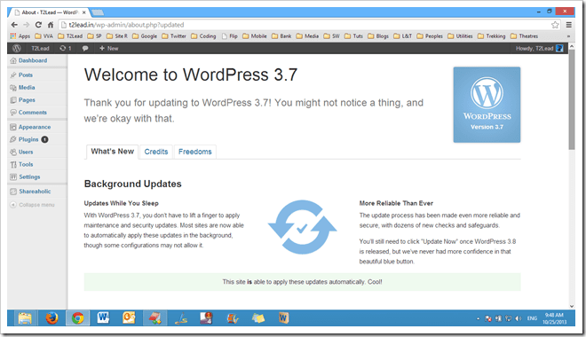 [Blog]Wordpress 3.7 Released and available for Download (7)