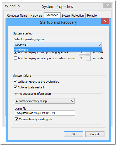 [How To] Choose Default Operatinng System in Windows 8 from Dual OS System (1)