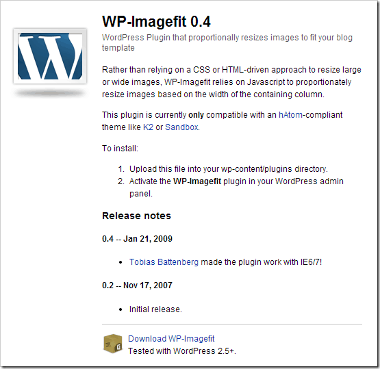 Autofit Images on any WordPress Theme with WP-Imagefit Pulgin