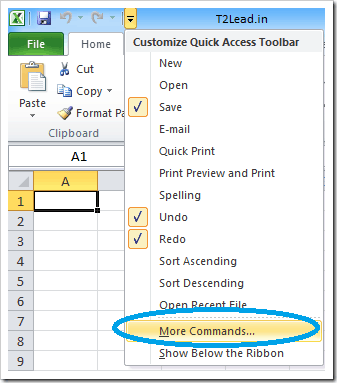 How To Add Calculator to Excel Quick Access Toolbar (3)