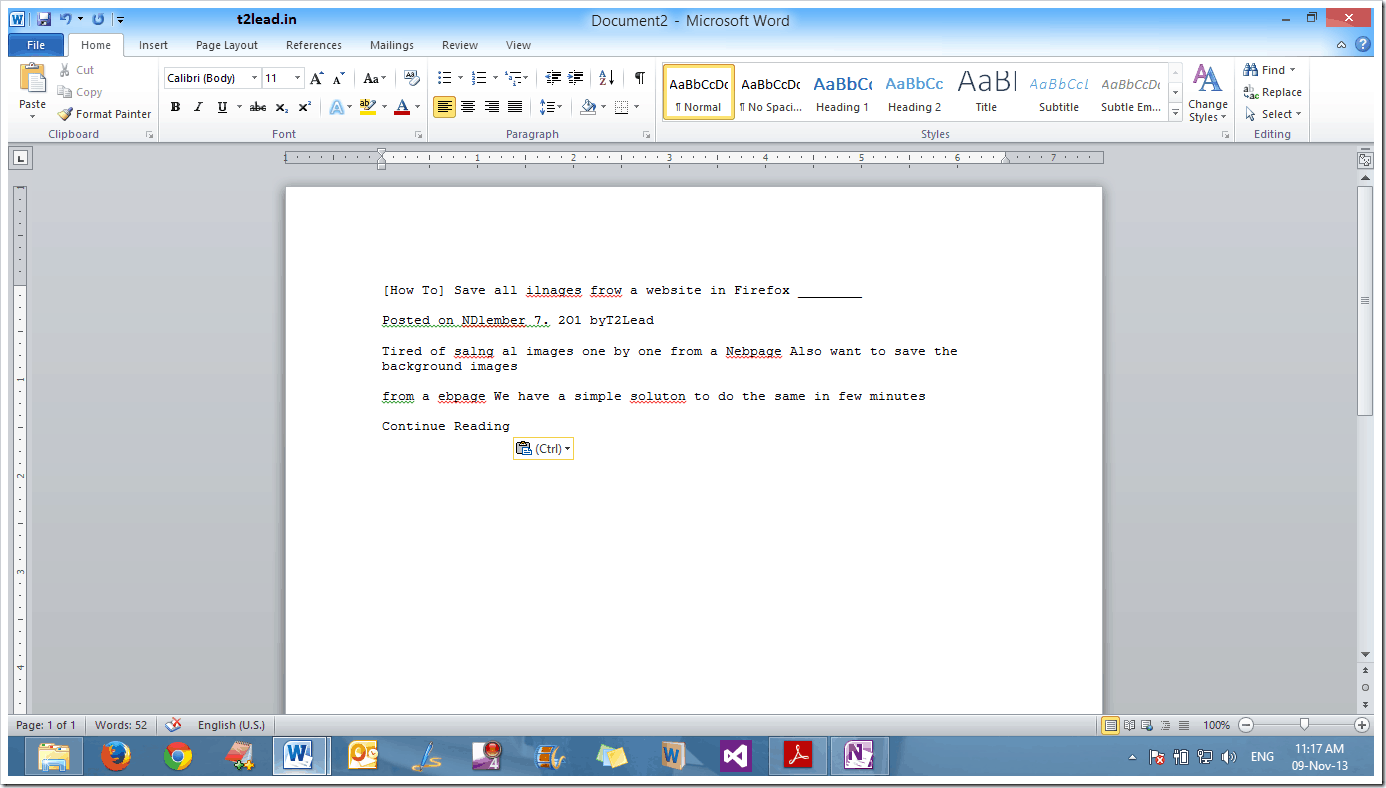 [How To] Copy Text from PDF using MS OneNote (1)