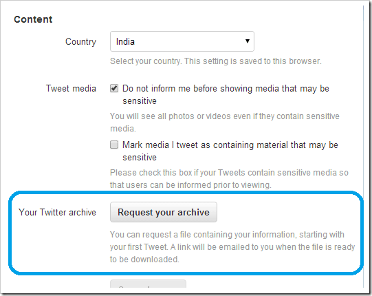 How To Request your Twitter Archive (2)