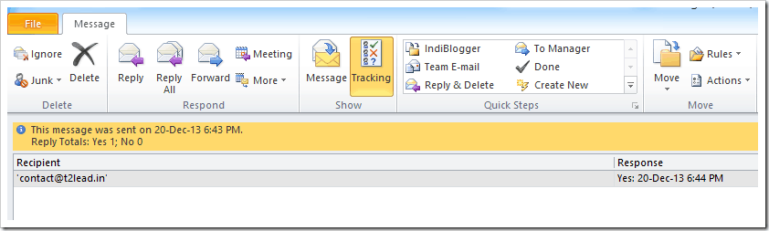 How To Send Mail with Voting Response in Outlook 2010 (10)