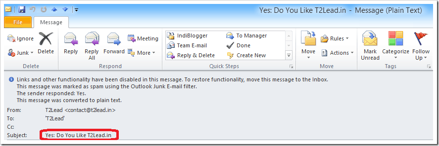 How To Send Mail with Voting Response in Outlook 2010 (8)