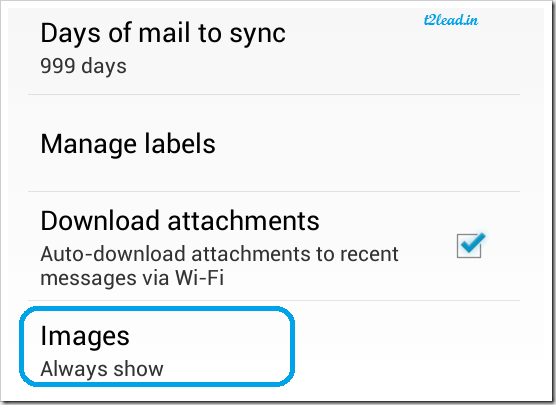 170.How To Prevent Images Showing Automatically in Gmail for Android (1)