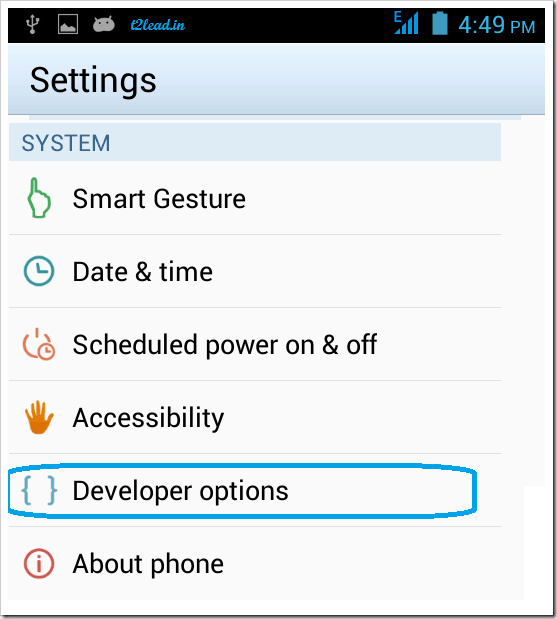 How To Enable Usb Debugging in Android 4.2 and Higher Version (2)