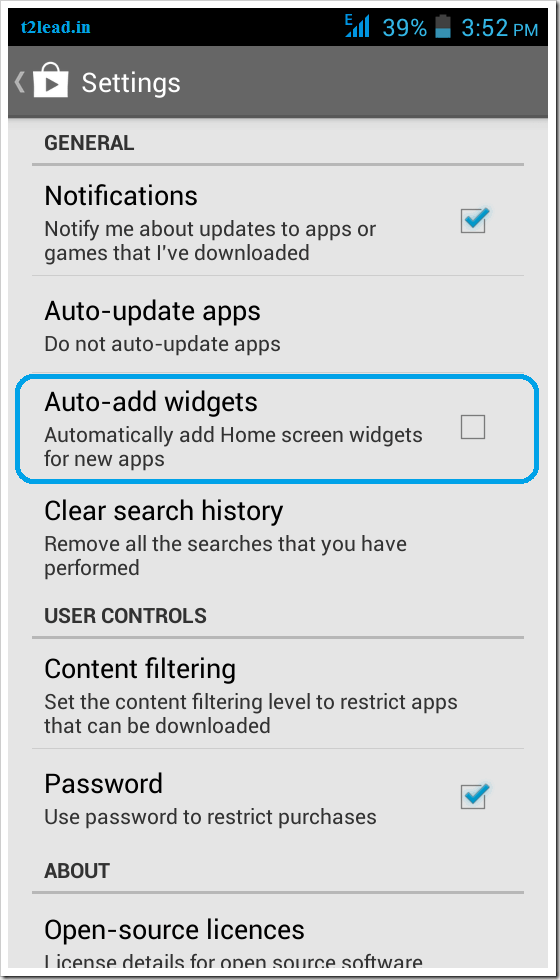 How To EnableDisable Auto Add Home Screen Widgets for Apps in Android (2)