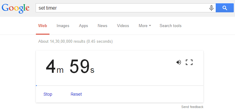 How To Use Google as a Timer (1)