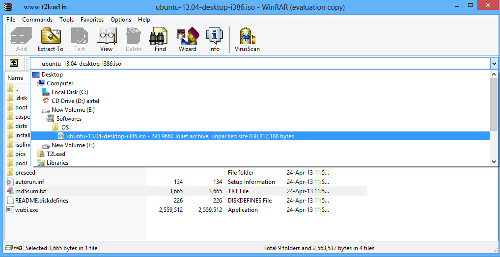 How To View & Extract the Contents of .ISO Files using WinRAR (4)
