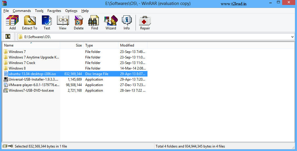 How To View & Extract the Contents of .ISO Files using WinRAR (5)