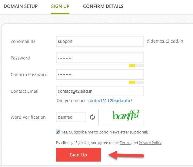 Zoho Mail for custom Domain (2)