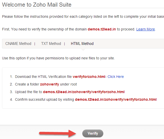 Zoho Mail for custom Domain (4)