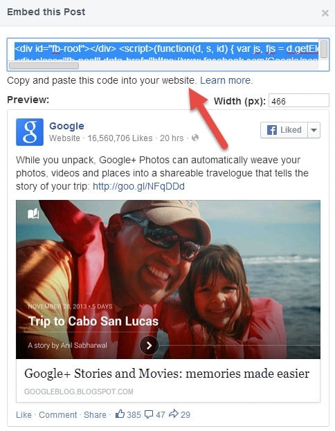 Guide to Embed Facebook Posts in Websites and Blogs (2)