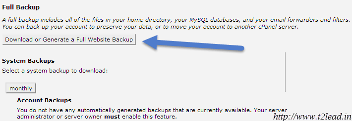 How To Backup Website in cPanel Control Panel (2)