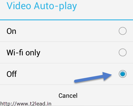 How To Disbale Autoplay Facebook Videos in Android and iPhone (2)