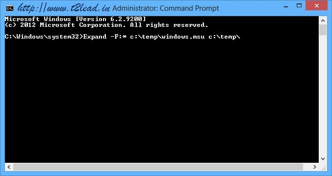 How To Extract .msu files using Command Prompt (2)