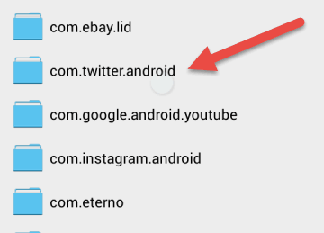 How To Manually Delete Twitter Cache Files from Memory Card in Android (4)