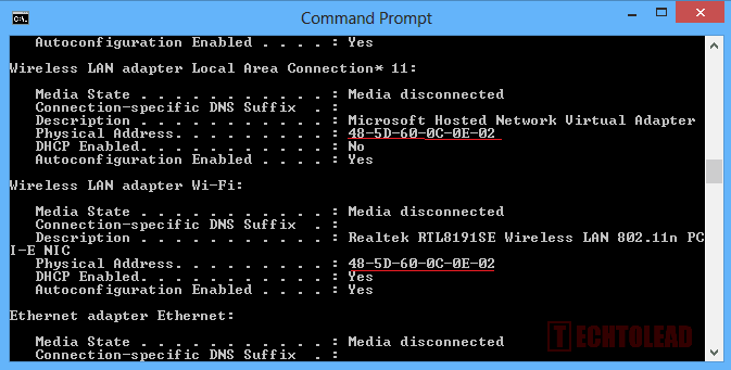 How To View The Mac Address In Windows TechToLead.com (3)