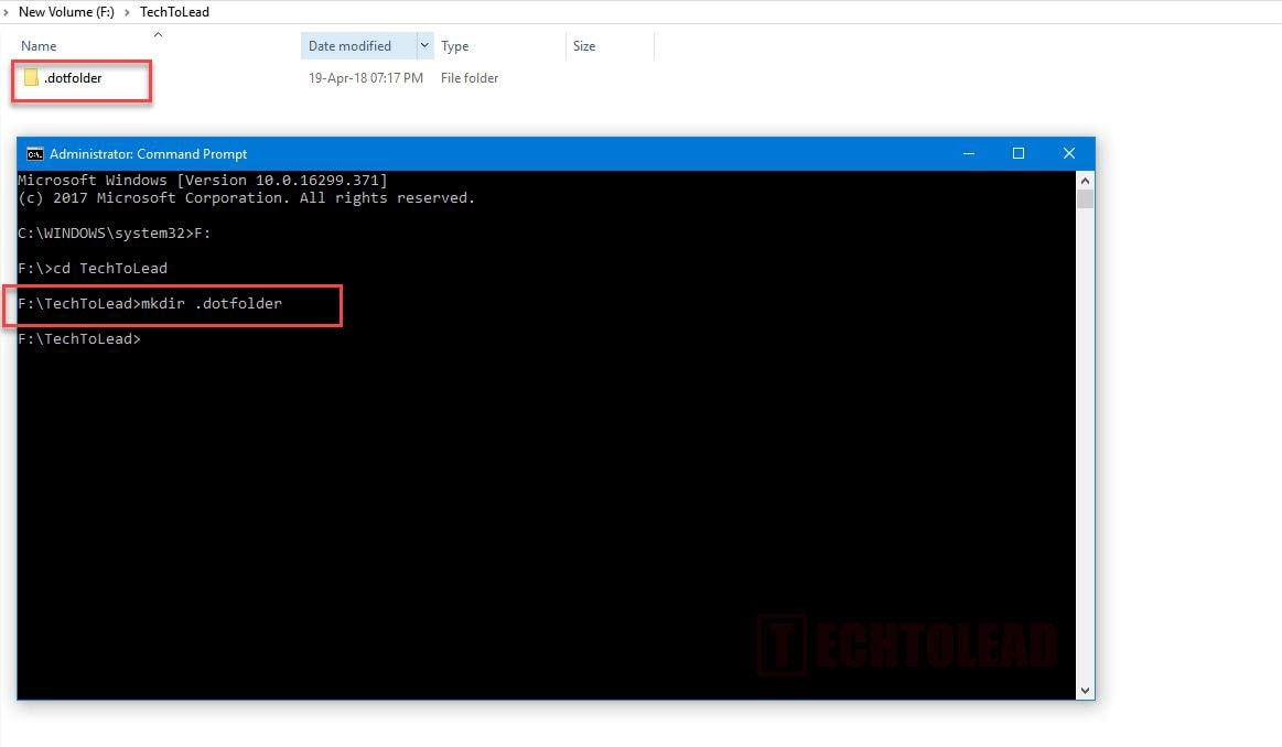[How To] Create Folder With Name Starting With Dot(.) In Windows