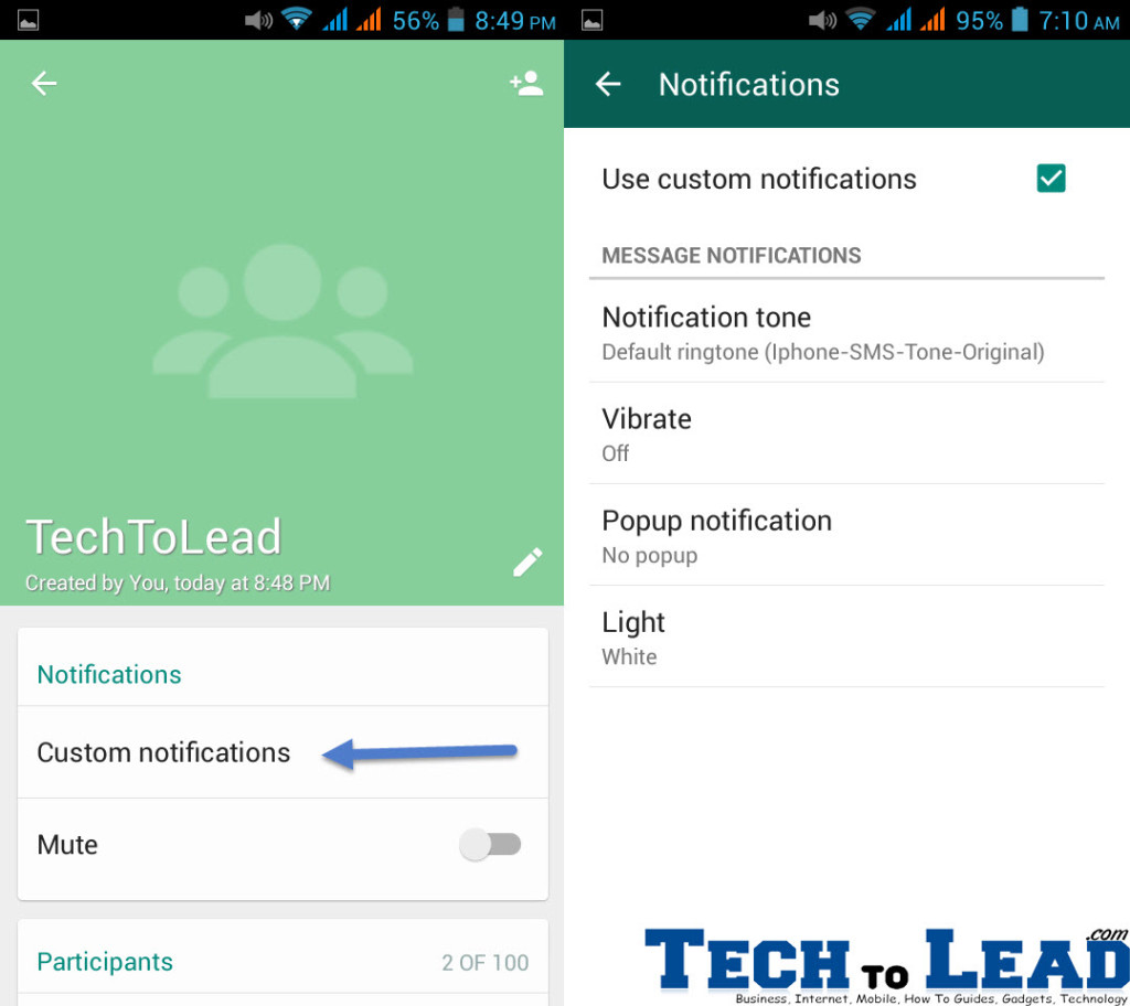 Whatsapp Custom Notifications copy