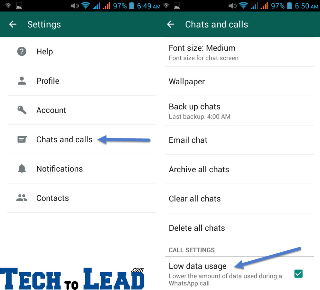 Whatsapp low data usgae copy