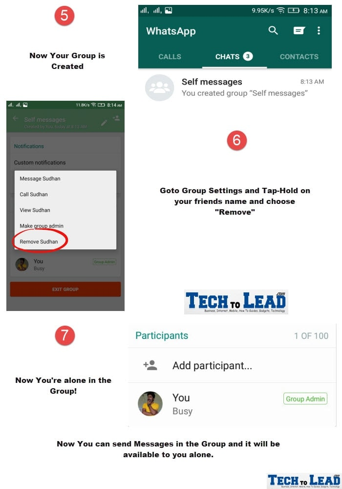 How To Send messages to Own number in WhatsApp 2