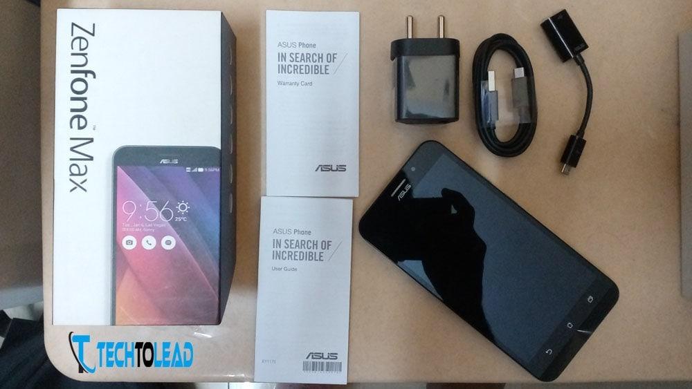 Asus Zenfone Max Box Contents