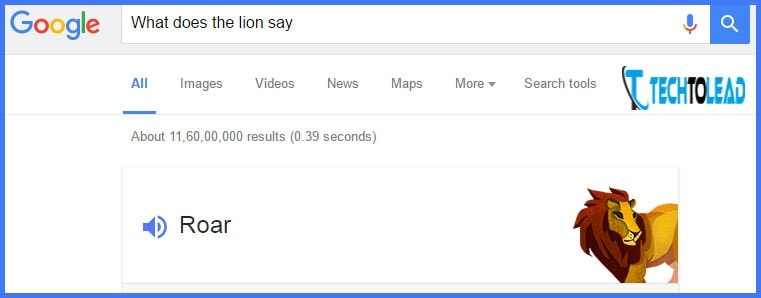 Play Animal Sounds in Google Search 1