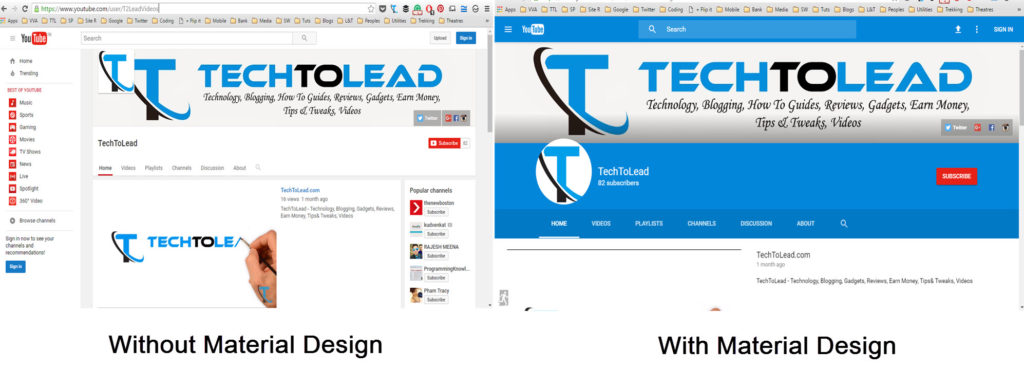 How To Enable Material Design Layout on YouTube (1)