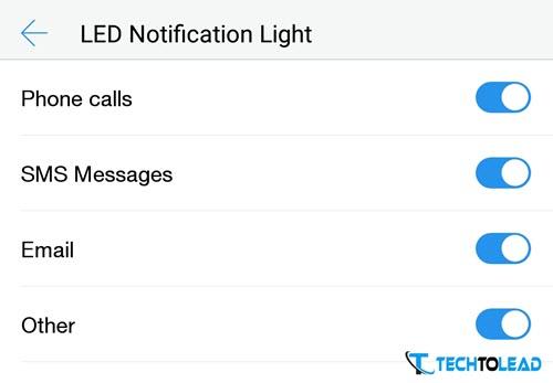 Le 2 LED Notification
