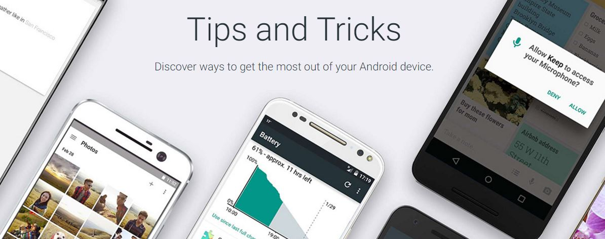 Android Tips & Tricks, The New Google Website with Tips and Tricks for Squeezing Your Device
