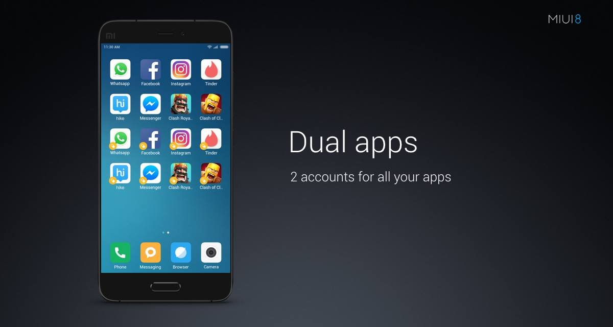Dual Apps on MIUI 8