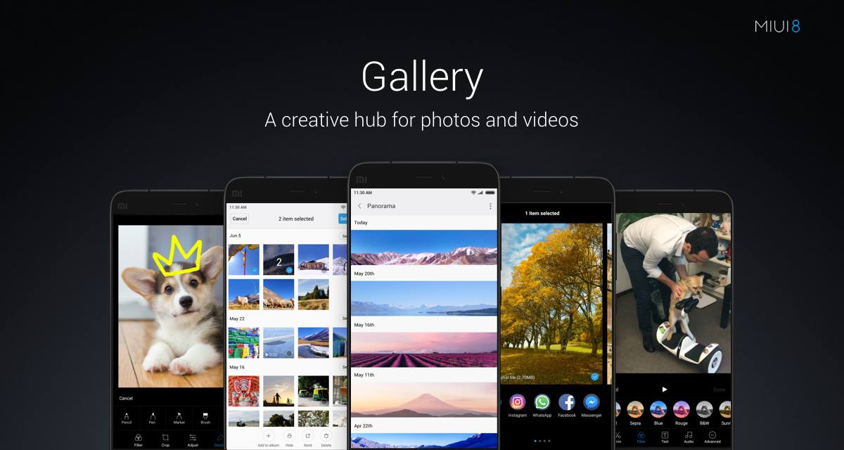 Gallery on MIUI8