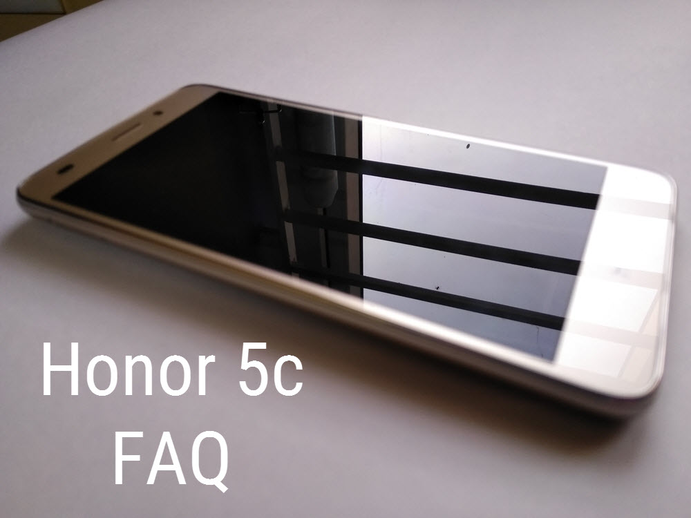 Honor 5c - FAQ