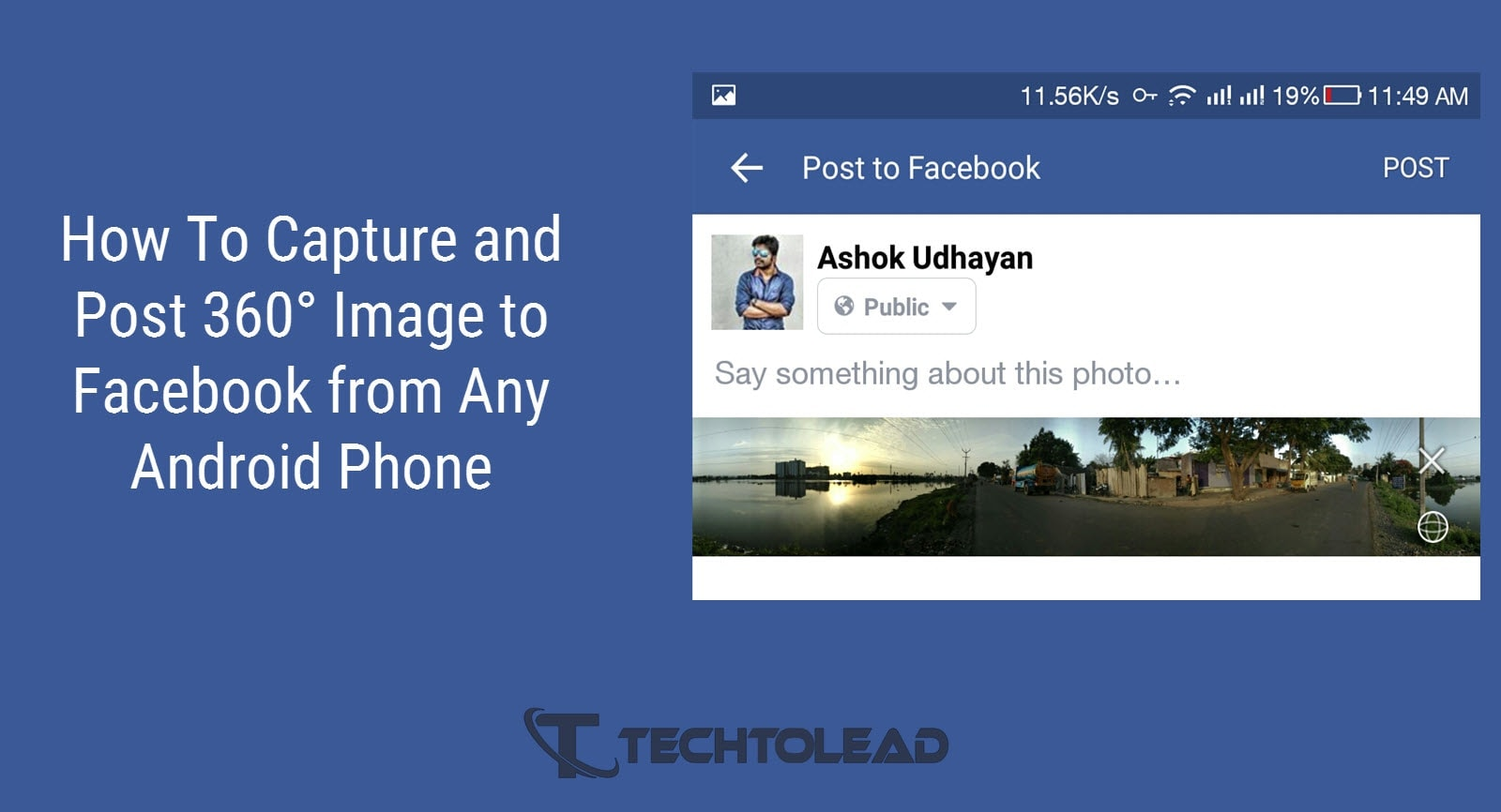 How To Capture and Post 360° Image to Facebook from Any Android Phone