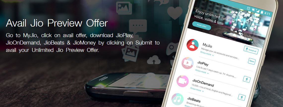 Jio Preview Offer Benefits