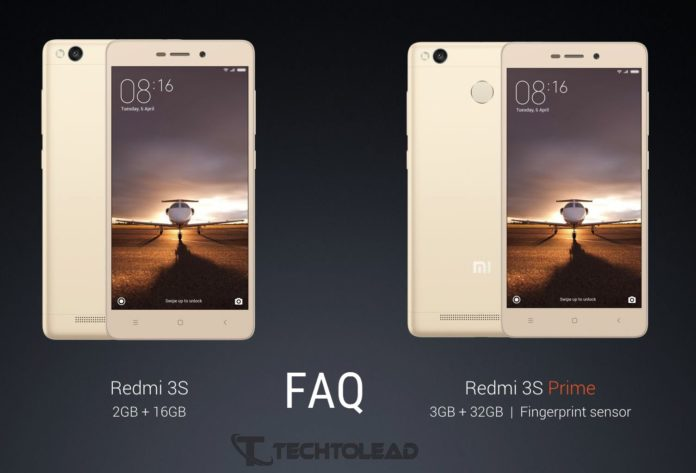 Xiaomi Redmi 3S and Redmi 3S Prime - FAQ   TechToLead com