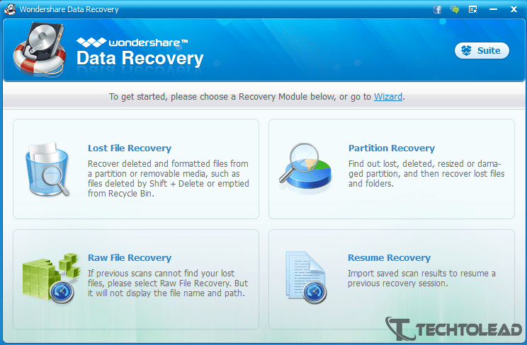 Wondershare Data Recovery Recovery Modes