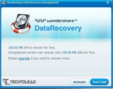 Wondershare Data Recovery Trial Version