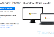 Google Chrome Standalone Installer