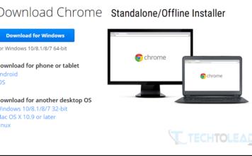 Google Chrome Standalone Installer