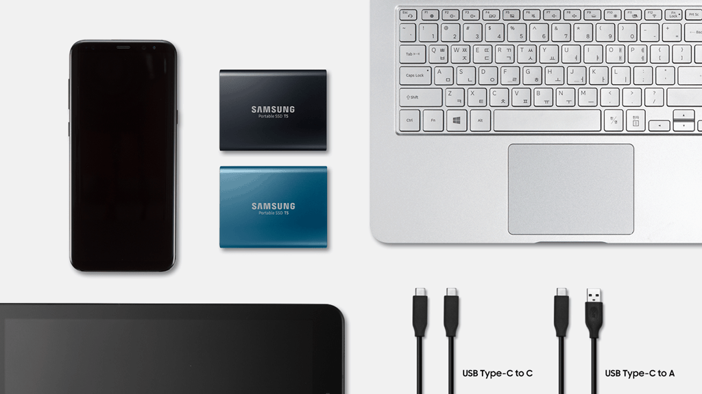 Samsung portable ssd t5 launched in india starting from rs13500 the t5 pssd is smaller than an average business card sizing at 74 x 573 x 105 millimeters 30 x 23 x 04 inches in dimensions and it is lightweight at reheart Choice Image