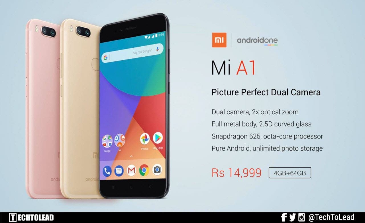 Xiaomi Launches Mi A1 Smartphone With Stock Android And