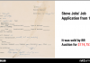 Steve Jobs' Job Application From 1973