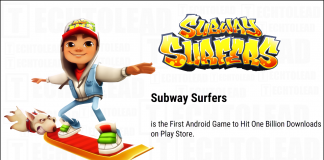 Subway Surfers 1 Billion Downloads
