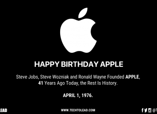 Happy Birthday Apple