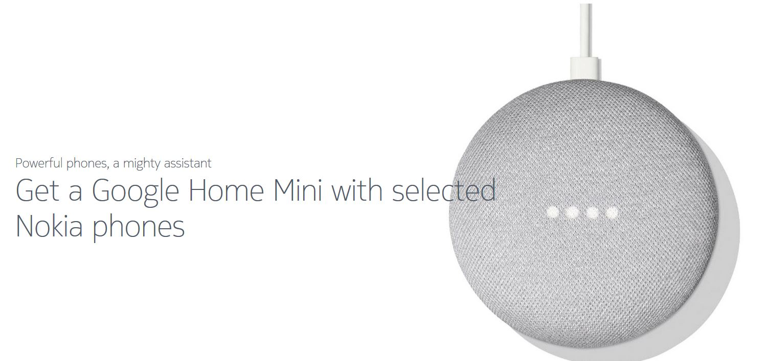 Nokia With Google Home Mini Offer