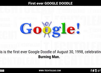 First Google Doodle